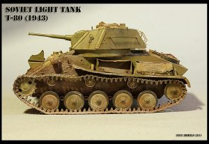 35117 SOVIET LIGHT TANK T-80. SPECIAL EDITION + Roman