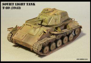 35117 SOVIET LIGHT TANK T-80. SPECIAL EDITION + Roman