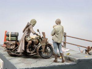 35080 U.S. WW II Motorcycle WLA + Sergei
