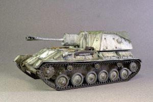 35143 SU-76M SOVIET SELF-PROPELLED GUN w/CREW + Perehodnoff