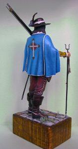 16009 FRENCH MUSKETTER XVII CENTURY + Shchipa