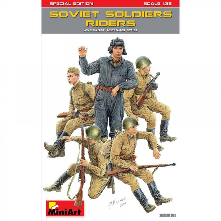 ソビエト戦車乗員/跨乗兵セット特別版(武器・装備品付)
