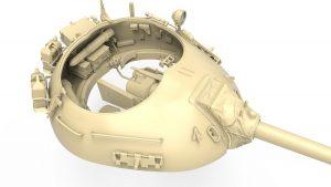 3D renders 37021 以色列蒂朗4Sh中期坦克 早期型(带内构)