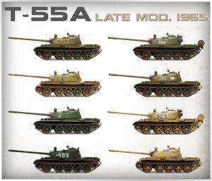 Side views 37022 T-55 Mod. 1965 späte Ausführung mit Inneneinrichtung