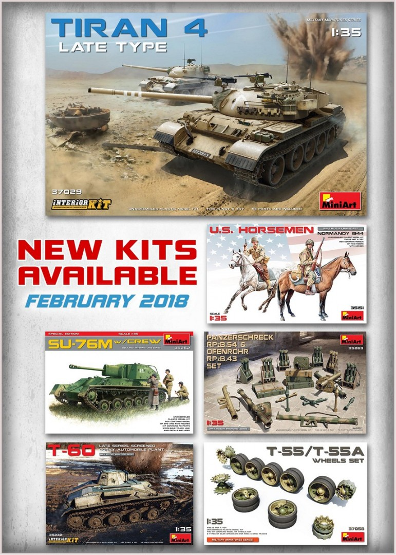 New Kits Available for Sale February 2018