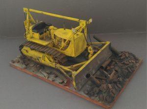 35184 U.S. ARMY TRACTOR w/ANGLED DOZER BLADE + Mistik001