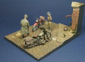 35080 U.S. WW II Motorcycle WLA + Balzac