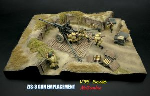 36058 ZIS-3 GUN Emplacement + Mr.Zombie