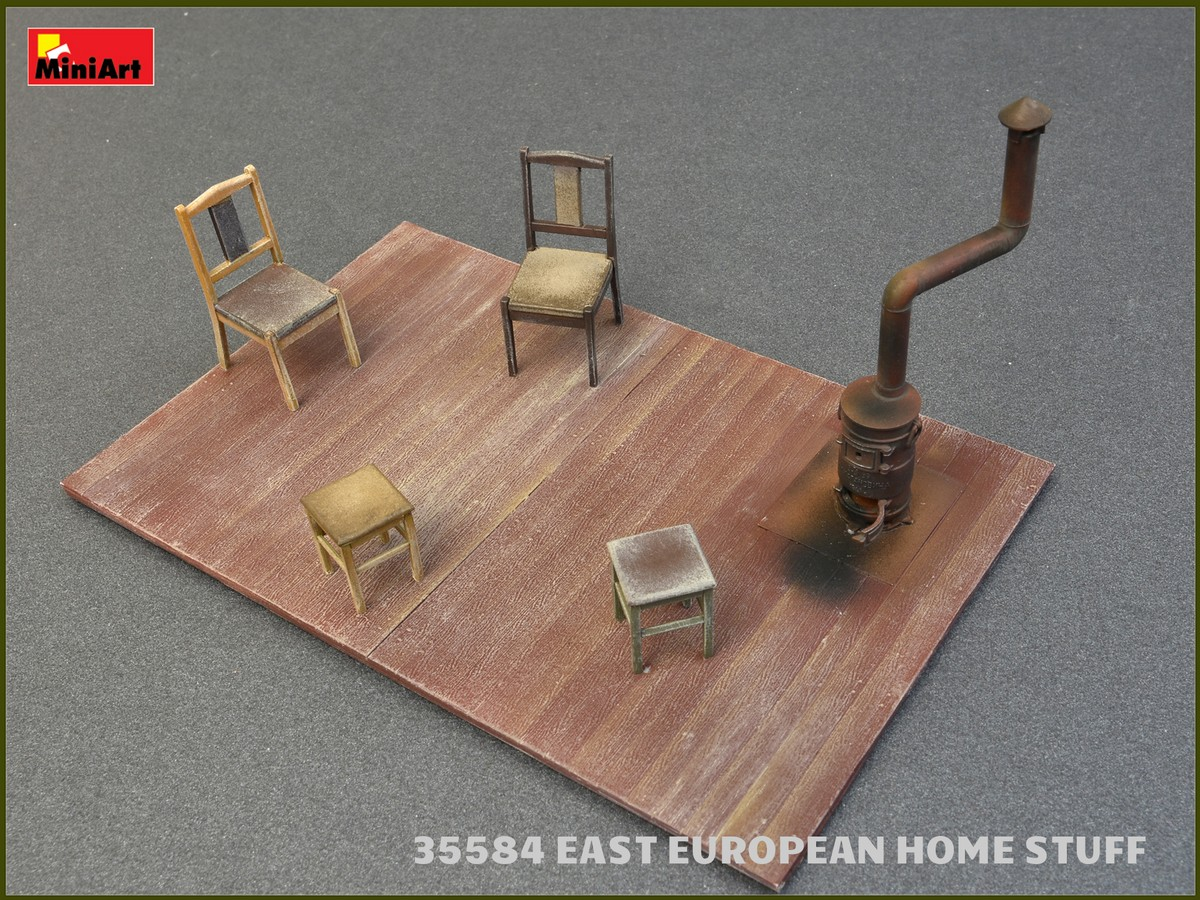 EAST EUROPEAN HOME STUFF 1//35 SCALE MODEL KIT FOR BUILDING MINIART 35584 NEW