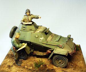 35097 BA-64B SOVIET ARMOURED CAR w/CREW + Den Kusnezow
