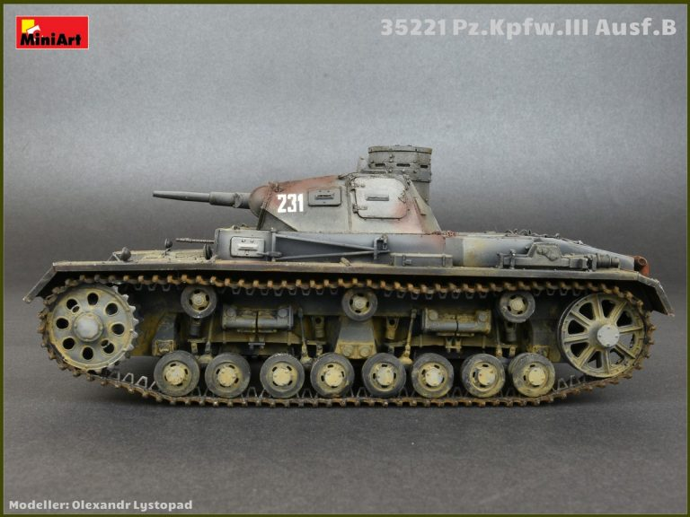 35221 Ⅲ号戦車B型5体乗員付