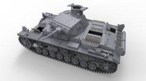 3D renders 35221  三号坦克B型 带乘员