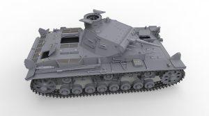 3D renders 35221 Ⅲ号戦車B型5体乗員付