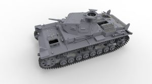 3D renders 35221 Pz.Kpfw.III Ausf.B mit Besatzung