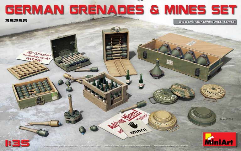 35258 GERMAN GRENADES & MINES SET