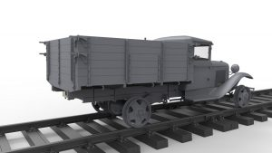 3D renders 35265 1,5 TON  RAILROAD TRUCK AA TYPE