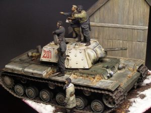35009 SOVIET TANK CREW AT REST + 35022 SOVIET TANK CREW. WINTER 1943-45 +Jose A. Velazquez