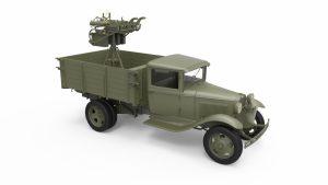 3D renders 35186 ソビエト1.5トントラックM-4マキシムAAマシンガン装備