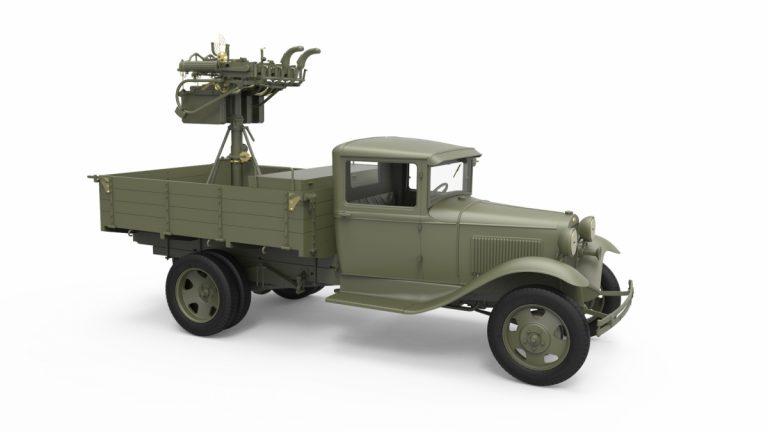 35186 ソビエト1.5トントラックM-4マキシムAAマシンガン装備