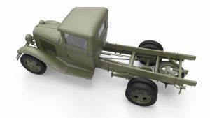 3D renders 35186 SOVIET 1,5 t. TRUCK w/ M-4 Maxim AA Machine Gun