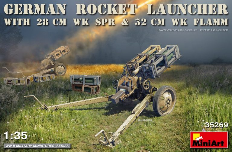 35269 GERMAN ROCKET LAUNCHER with 28cm WK Spr & 32cm WK Flamm