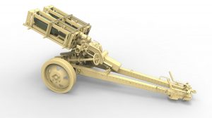 3D renders 35269 GERMAN ROCKET LAUNCHER with 28cm WK Spr & 32cm WK Flamm