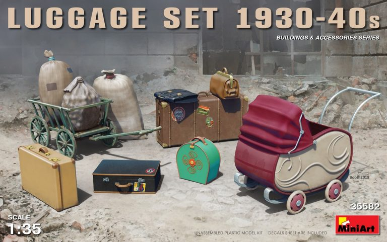 35582 LUGGAGE SET 1930-40s