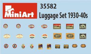 Content box 35582 LUGGAGE SET 1930-40s