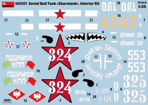 "Content box 40001 SOVIET BALL TANK ""Sharotank"" INTERIOR KIT"
