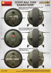 """Side views 40001 SOVIET BALL TANK """"Sharotank"""" INTERIOR KIT"""