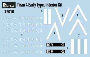Content box 37010 TIRAN 4 EARLY TYPE. INTERIOR KIT