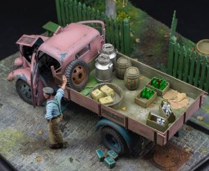 38014 GERMAN CARGO TRUCK L1500S + 35539 VILLAGE ACCESSORIES + Sakis Giannakidis