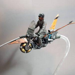 35172 U.S. MOTORCYCLE WLA w/RIDER + onlyscalemodel
