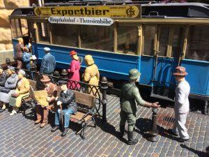 38009 EUROPEAN TRAMCAR (StraBenbahn Triebwagen 641) w/CREW & PASSENGERS + 38015 GERMAN CIVILIANS 1930's-1940's +  Martin Trulio
