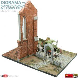 36030 DIORAMA w/RUINED CHURCH + Sergio Solo