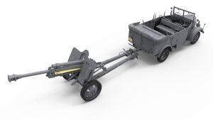 3D renders 35189 Армейский Автомобиль Kfz.70 с Пушкой 7,62 cm F.K. 39 ( r )