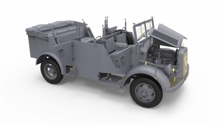 35189 Армейский Автомобиль Kfz.70 с Пушкой 7,62 cm F.K. 39 ( r )