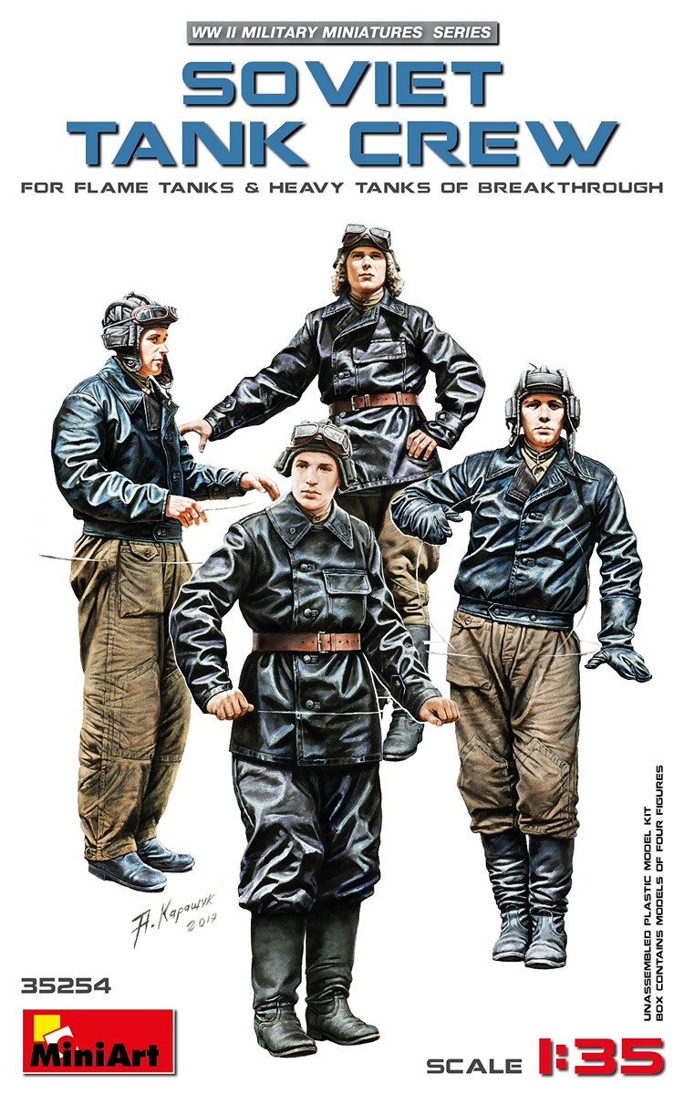 35254 ソビエト戦車兵4体入(火炎放射戦車・重戦車搭乗員)