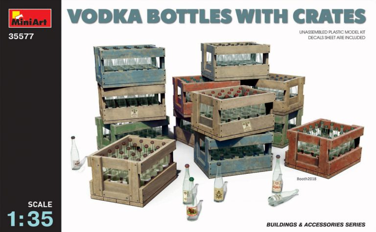 35577 VODKA BOTTLES WITH CRATES