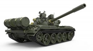 3D renders 37020 T-55A 中型坦克 1981年型 带内构