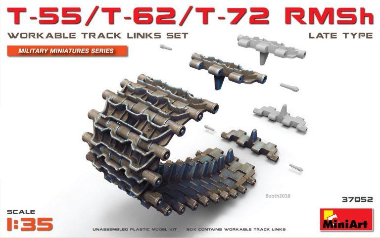 37052 T-55/T-62/T-72 RMSh Рабочие Гусеничные Цепи. Позднего Типа