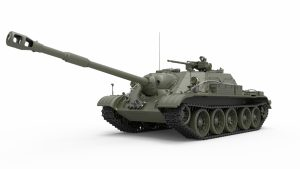 3D renders 37035 SU-122-54 EARLY TYPE