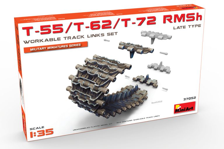37052 T-55/T-62/T-72 RMSh WORKABLE TRACK LINKS SET. LATE TYPE