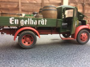 38014 GERMAN CARGO TRUCK L1500S + Martin Trulio