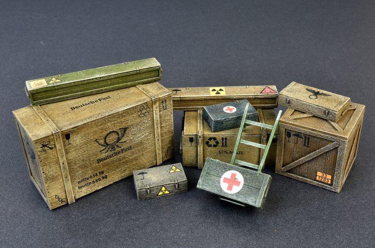 35581 木製箱と木枠セット