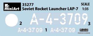 Content box 35277 SOVIET ROCKET LAUNCHER LAP-7