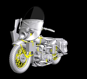 3D renders 35284 U.S. MOTORCYCLE REPAIR CREW. SPECIAL EDITION