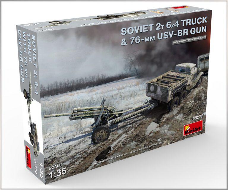 35272 SOVIET 2T 6X4 TRUCK & 76-mm USV-BR GUN