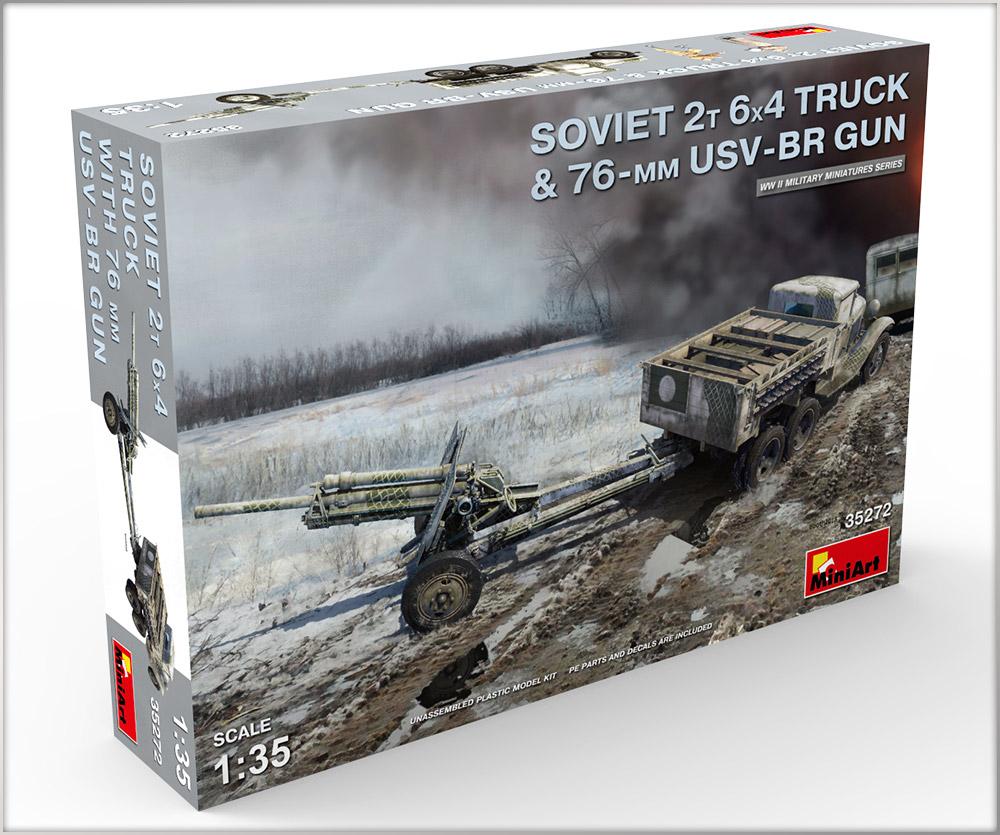 Новые Фотографии: 35272 Советский 2-х Тонный грузовик 6X4 с 76-мм УСВ-БР Пушкой