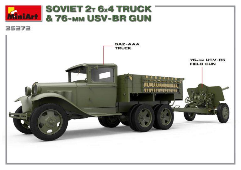 35272 ソビエト2T 6X4トラック&76ミリ USV-BR砲
